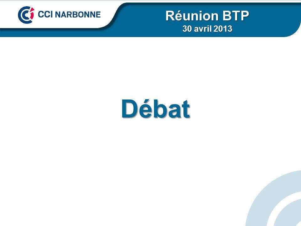 Débat Réunion BTP 30 avril 2013