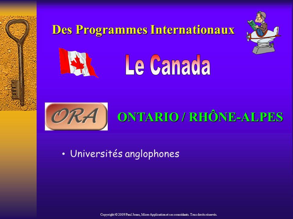 International Student Exchange Programme Des Programmes Internationaux (suite) http://www.isep.org Copyright © 2009 Paul Jones, Micro Application et ses concédants.