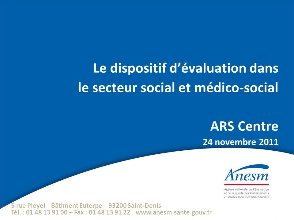 5 rue Pleyel – Bâtiment Euterpe – 93200 Saint-Denis Tél. : 01 48 13 91 00 – Fax : 01 48 13 91 22 - www.anesm.sante.gouv.fr Le dispositif dévaluation d