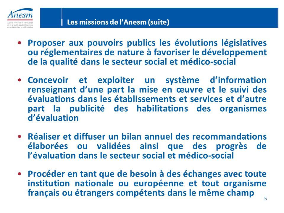 5 Proposer aux pouvoirs publics les évolutions législatives ou réglementaires de nature à favoriser le développement de la qualité dans le secteur soc