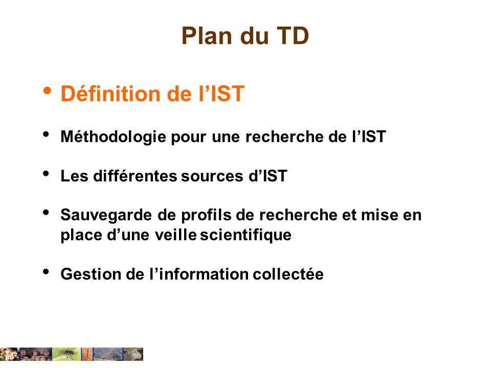 Linformation scientifique et technique IST Définition LIST désigne l ensemble des informations destinées aux secteurs de la recherche, de l enseignement et de l industrie.