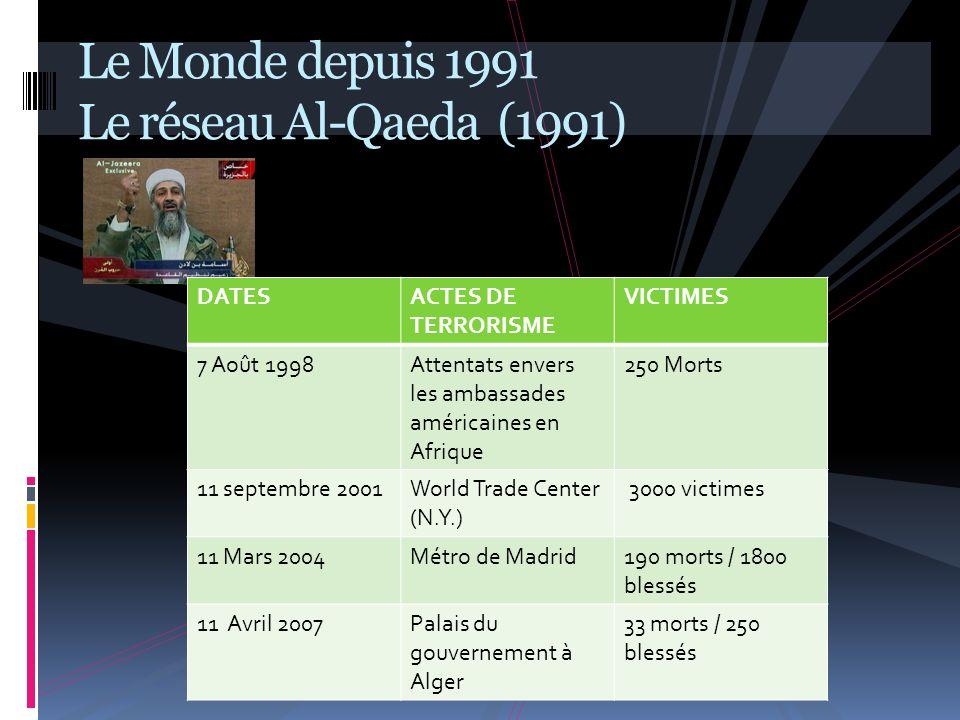 Le Monde depuis 1991 I I– UN NOUVEL ORDRE MONDIAL A – UN MONDE UNIPOLAIRE (1991 / 2005) B – LA CONSTRUCTION DUN MONDE MULTIPOLAIRE (2005 /…)