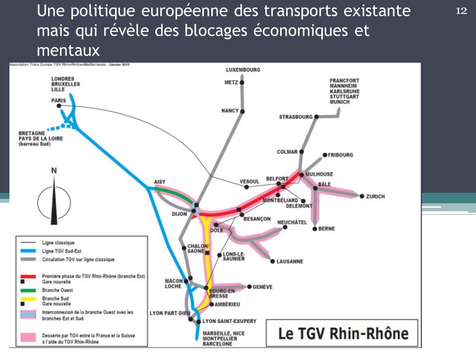 Une politique européenne des transports existante mais qui révèle des blocages économiques et mentaux 12