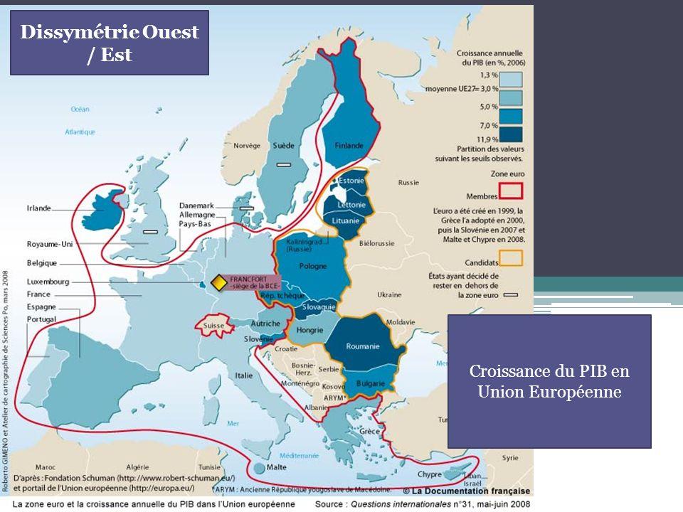 Croissance du PIB en Union Européenne