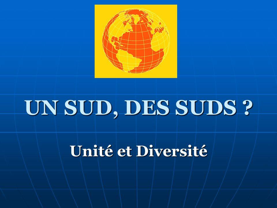 UN SUD, DES SUDS ? Unité et Diversité