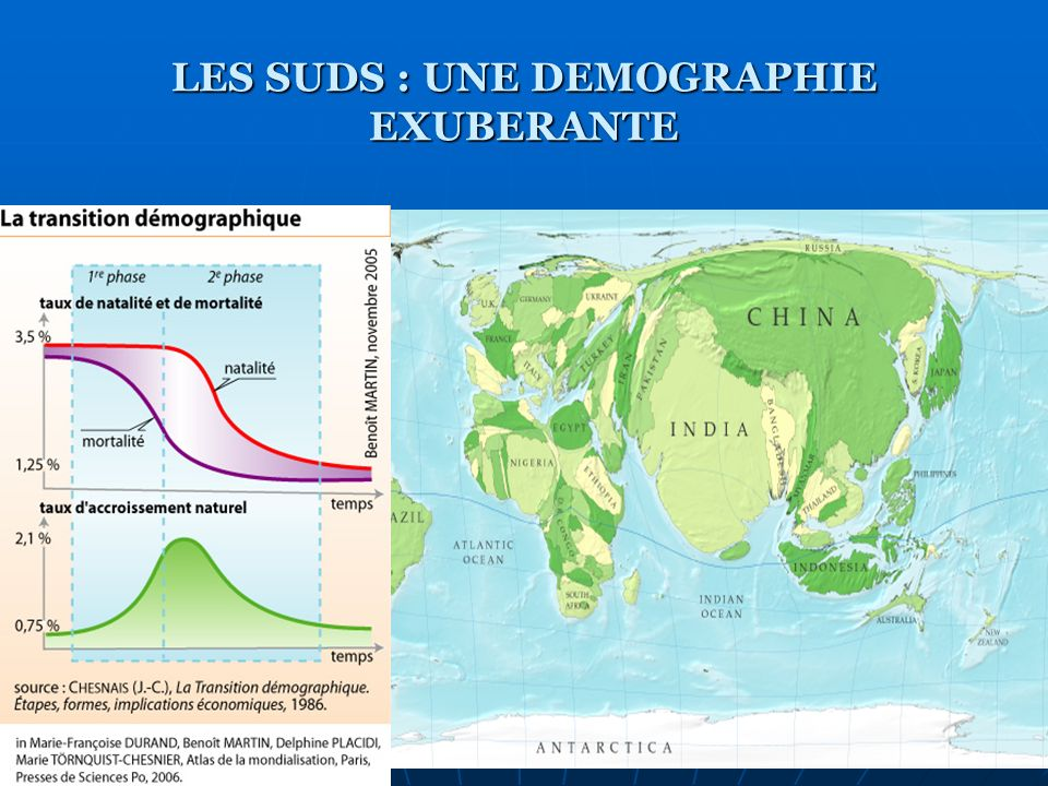 LES SUDS : UNE DEMOGRAPHIE EXUBERANTE