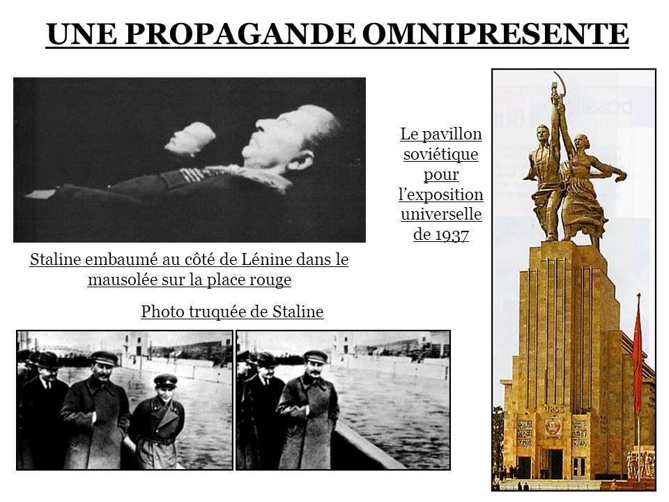 UNE PROPAGANDE OMNIPRESENTE Affiche représentant Engels, Marx, Lénine et Staline Le pavillon soviétique pour lexposition universelle de 1937 Photo tru