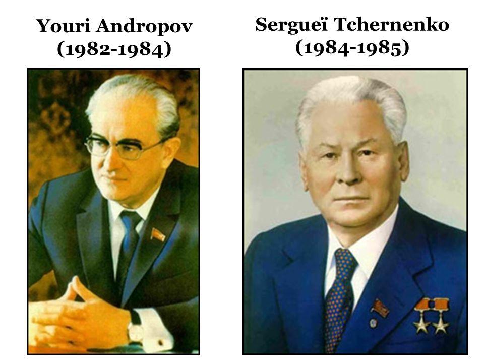 Sergueï Tchernenko (1984-1985) Youri Andropov (1982-1984)