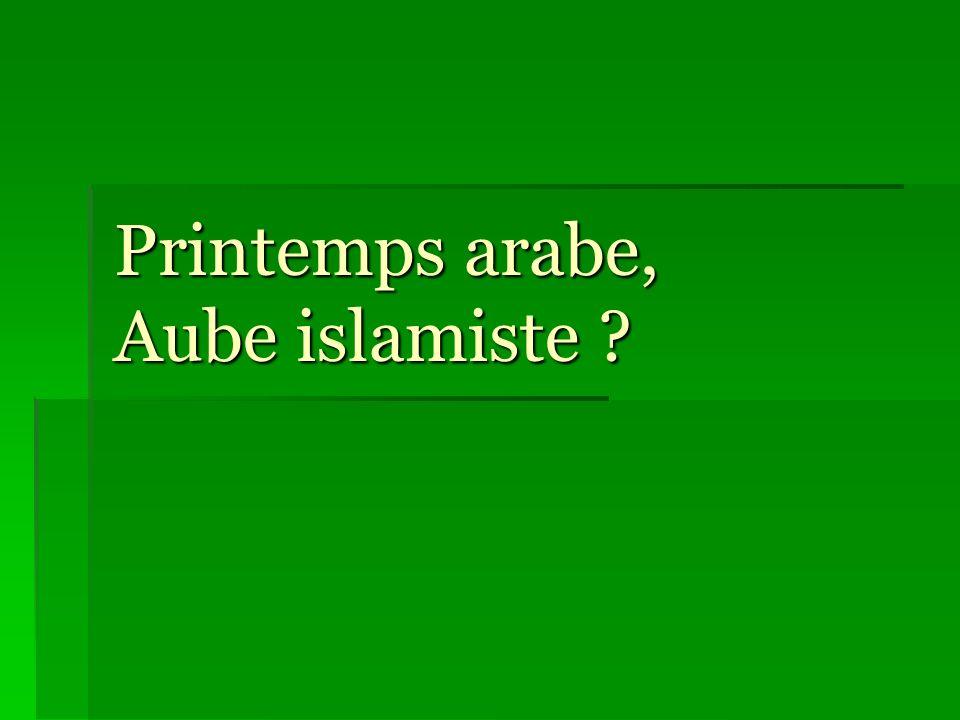 Printemps arabe, une aube islamiste ?