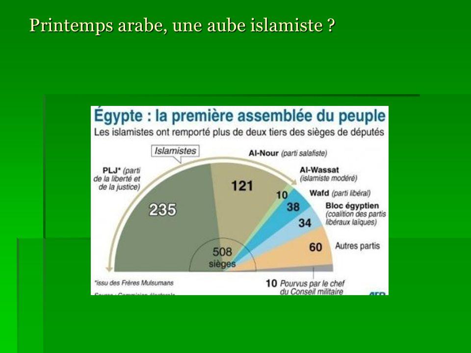 Un islamisme, des islamismes… Islamisme politique (années 1930-1990) Frères musulmans Créés en Egypte en 1928 par Al Banna : « régénération de lArabe par des techniques modernes » ENNAHDA (Tunisie).