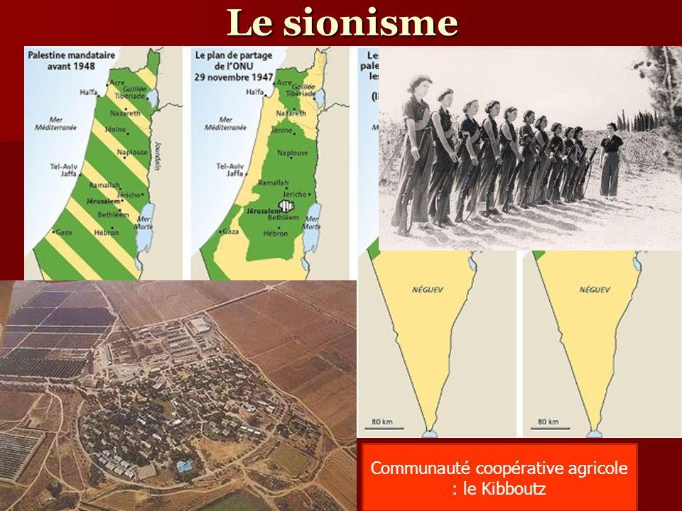 Le sionisme Communauté coopérative agricole : le Kibboutz