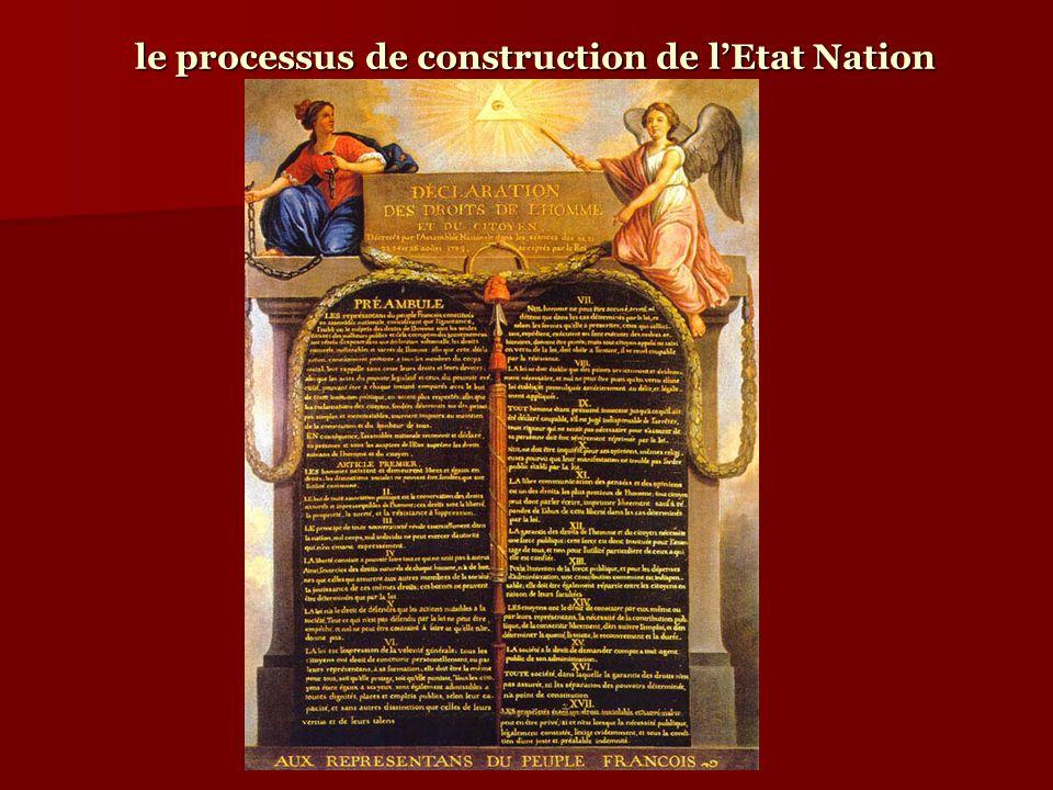 le processus de construction de lEtat Nation : un tribalisme.