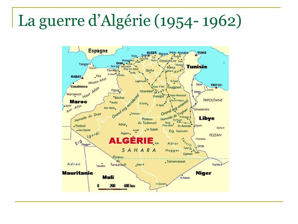 La guerre dAlgérie (1954- 1962)