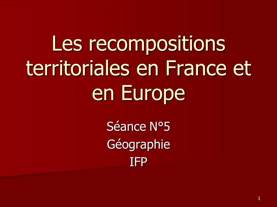 PLAN DU COURS I – Les cadres et les freins : les héritages de la structure administrative française.