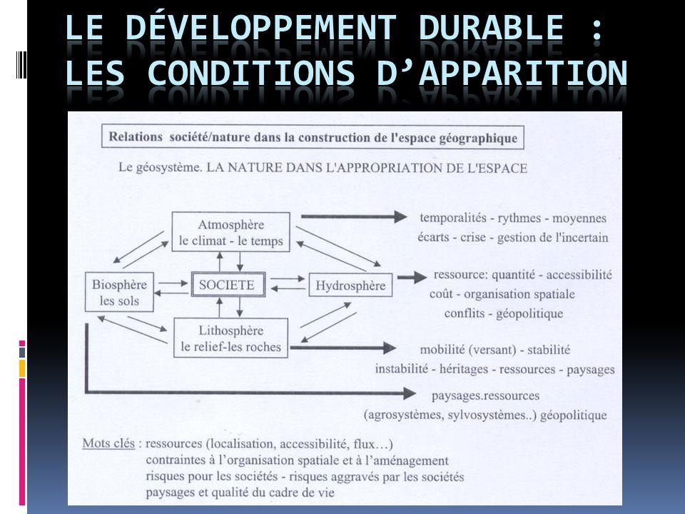 « Le développement durable est un mode de développement qui répond aux besoins du présent sans compromettre la capacité des générations futures de répondre aux leurs » (Rapport Brundtland, 1987).