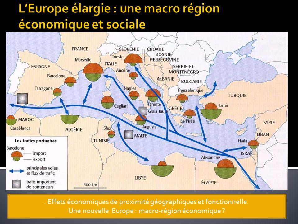 . Effets économiques de proximité géographiques et fonctionnelle. Une nouvelle Europe : macro-région économique ?