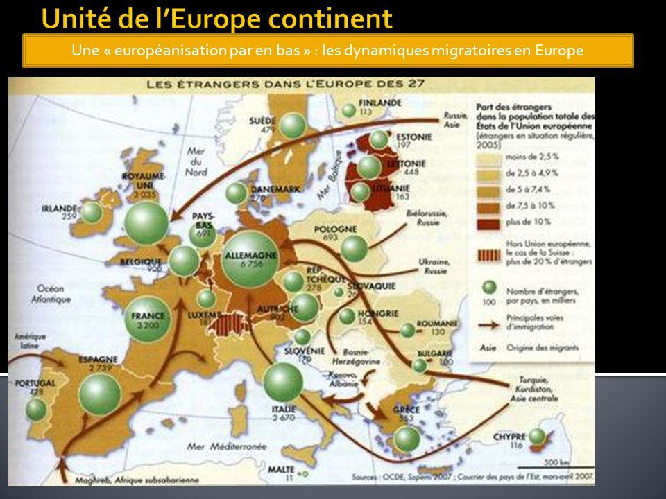 Une « européanisation par en bas » : les dynamiques migratoires en Europe