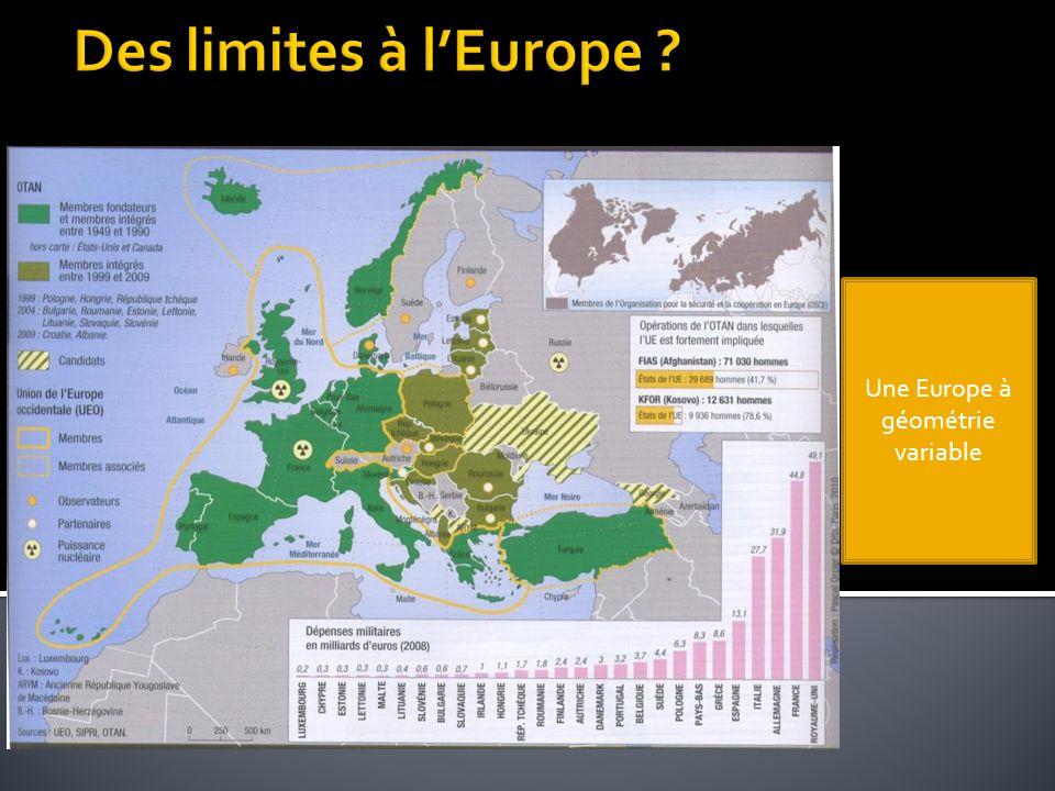 Deux notions à distinguer : Europe continent Europe instituée (=UE)