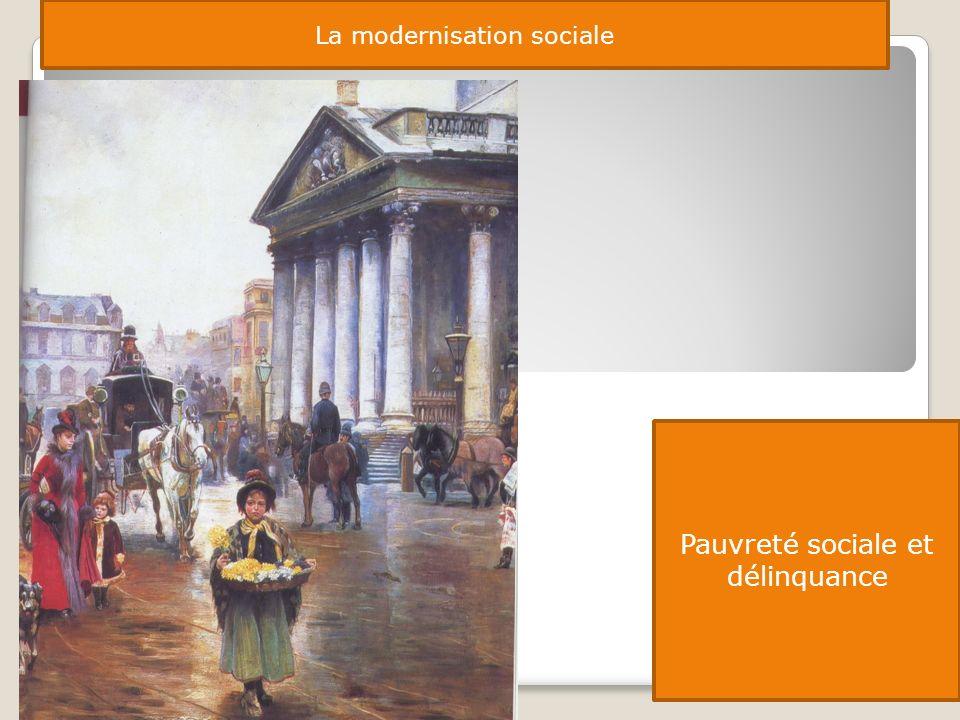 La modernisation sociale Pauvreté sociale et délinquance