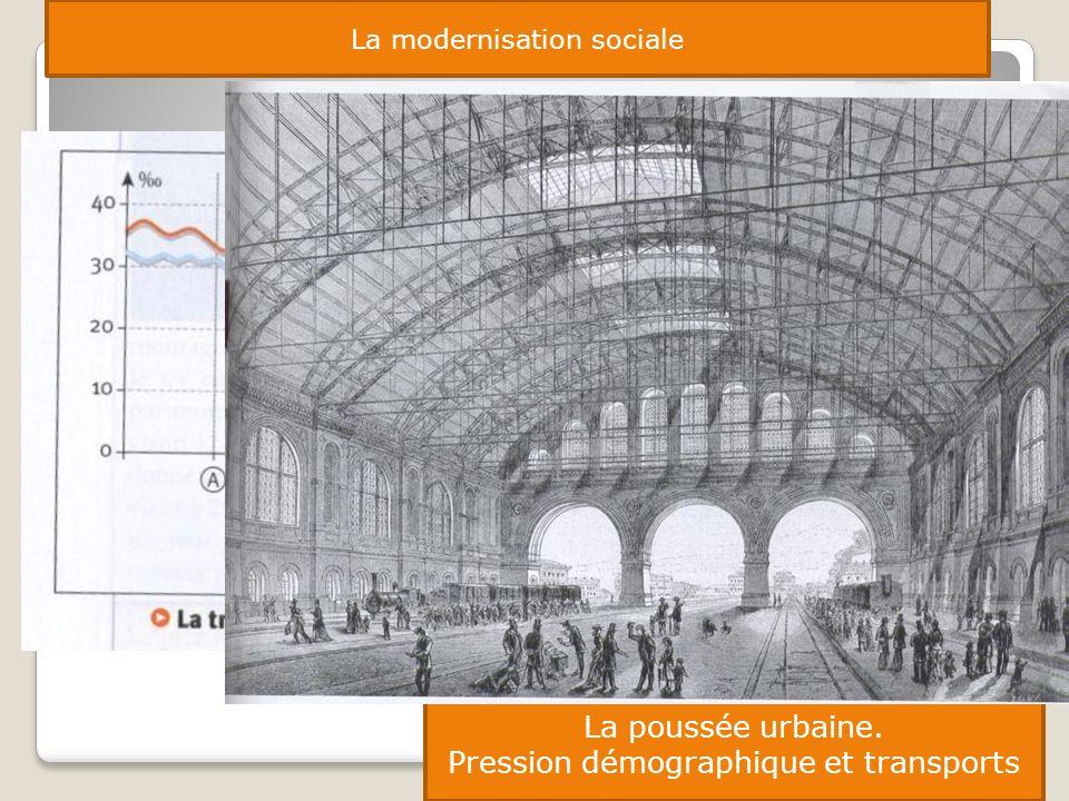 La modernisation sociale La poussée urbaine. Pression démographique et transports