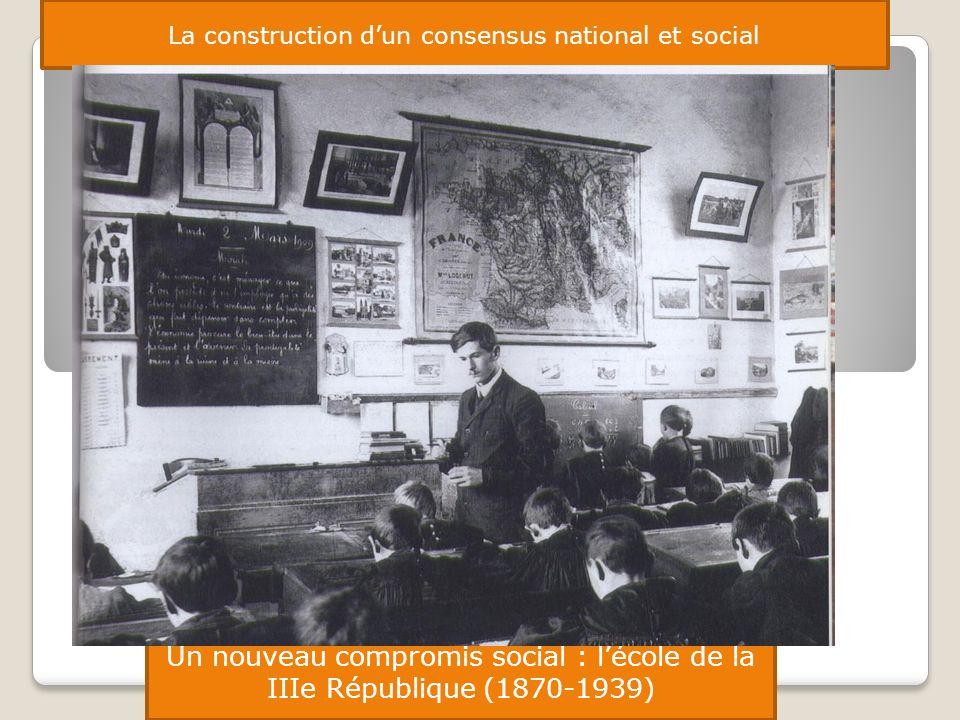 La construction dun consensus national et social Un nouveau compromis social : lécole de la IIIe République (1870-1939)