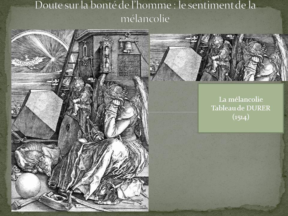 La mélancolie Tableau de DURER (1514)