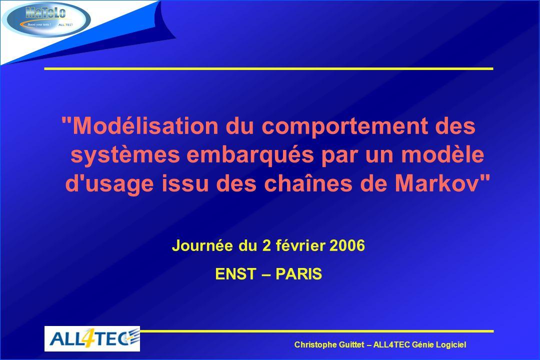 Christophe Guittet – ALL4TEC Génie Logiciel LEDITEUR DE MODELES DUSAGE MATELO