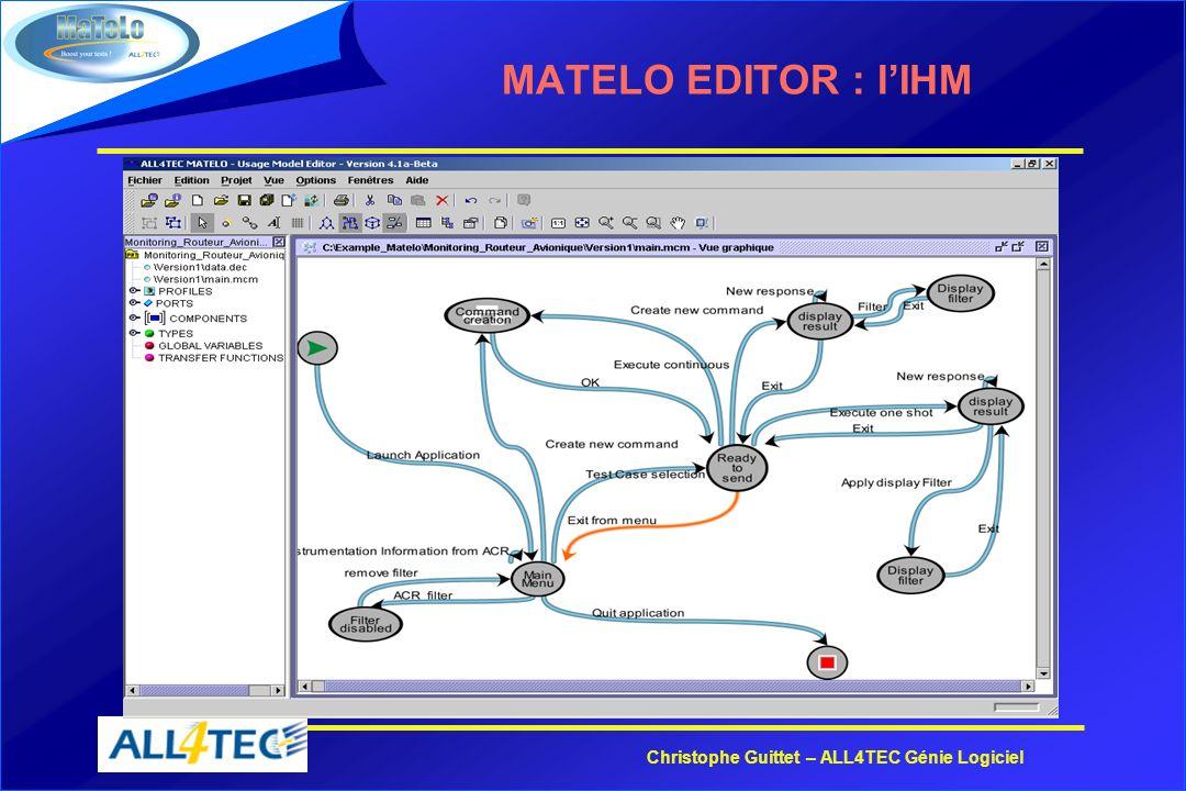 Christophe Guittet – ALL4TEC Génie Logiciel MATELO EDITOR : lIHM