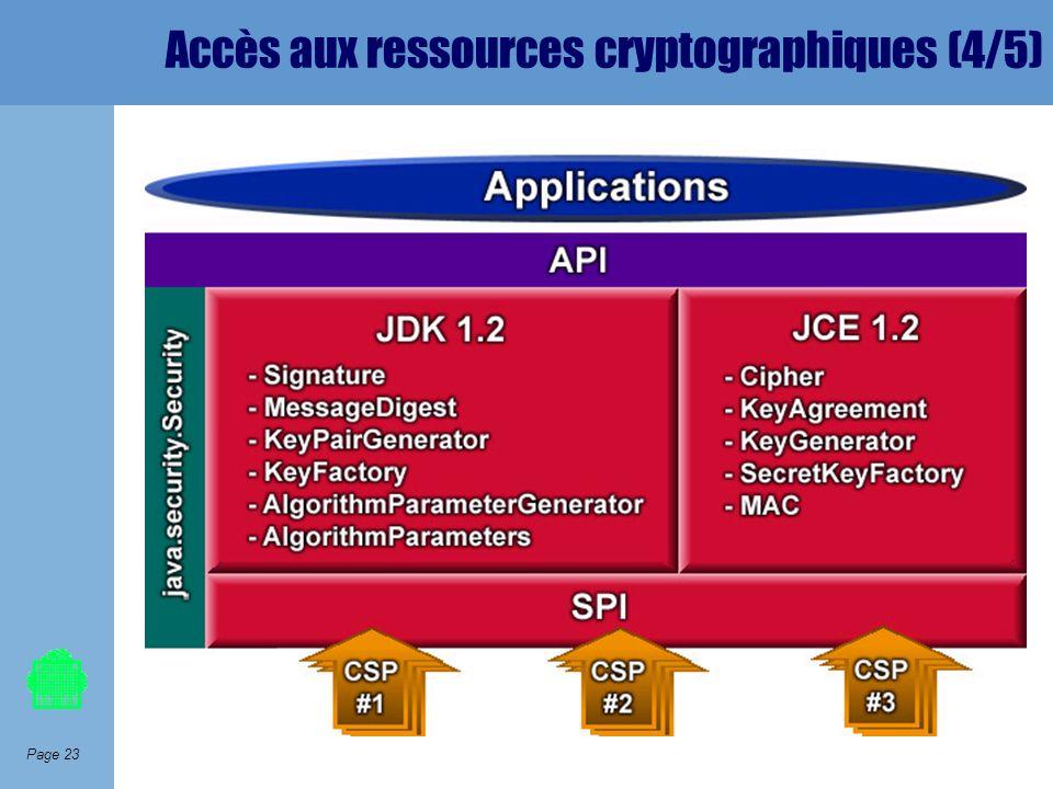 Page 23 Accès aux ressources cryptographiques (4/5)