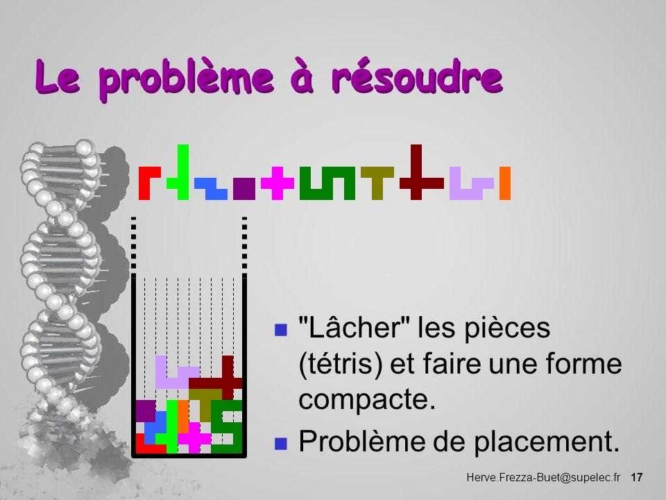 Herve.Frezza-Buet@supelec.fr 17 Le problème à résoudre n