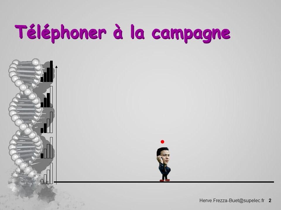 Herve.Frezza-Buet@supelec.fr 2 Téléphoner à la campagne