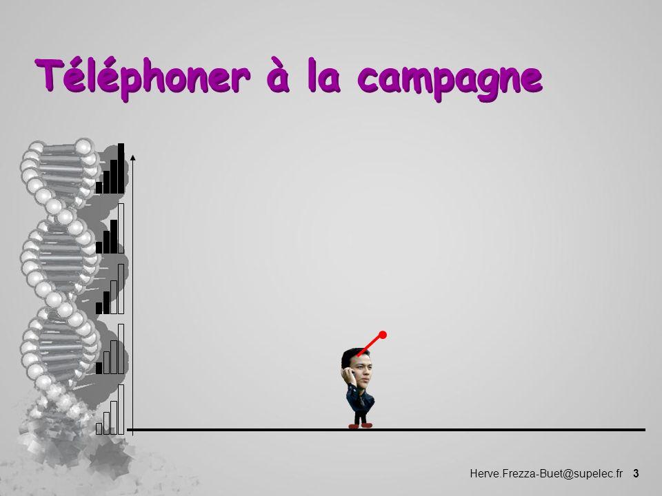 Herve.Frezza-Buet@supelec.fr 3 Téléphoner à la campagne