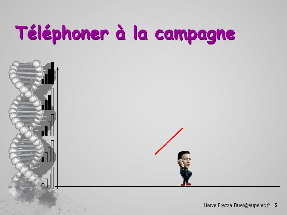 Herve.Frezza-Buet@supelec.fr 5 Téléphoner à la campagne