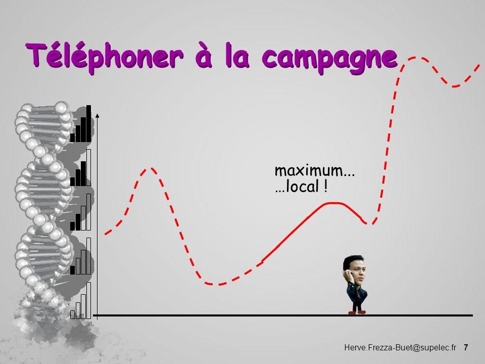 Herve.Frezza-Buet@supelec.fr 7 Téléphoner à la campagne maximum... …local !