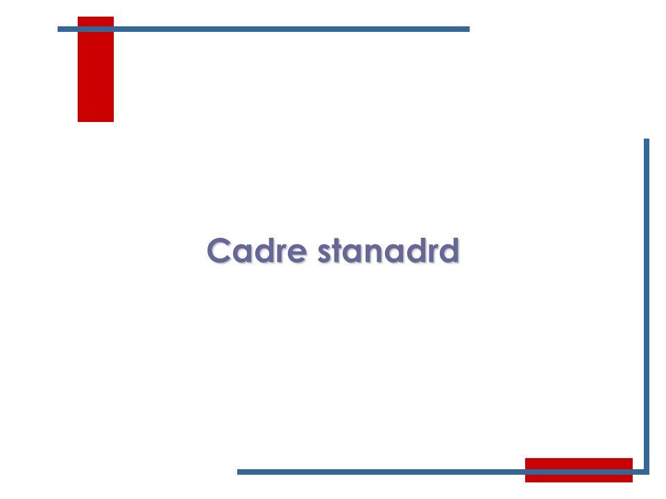 4 Cadre stanadrd