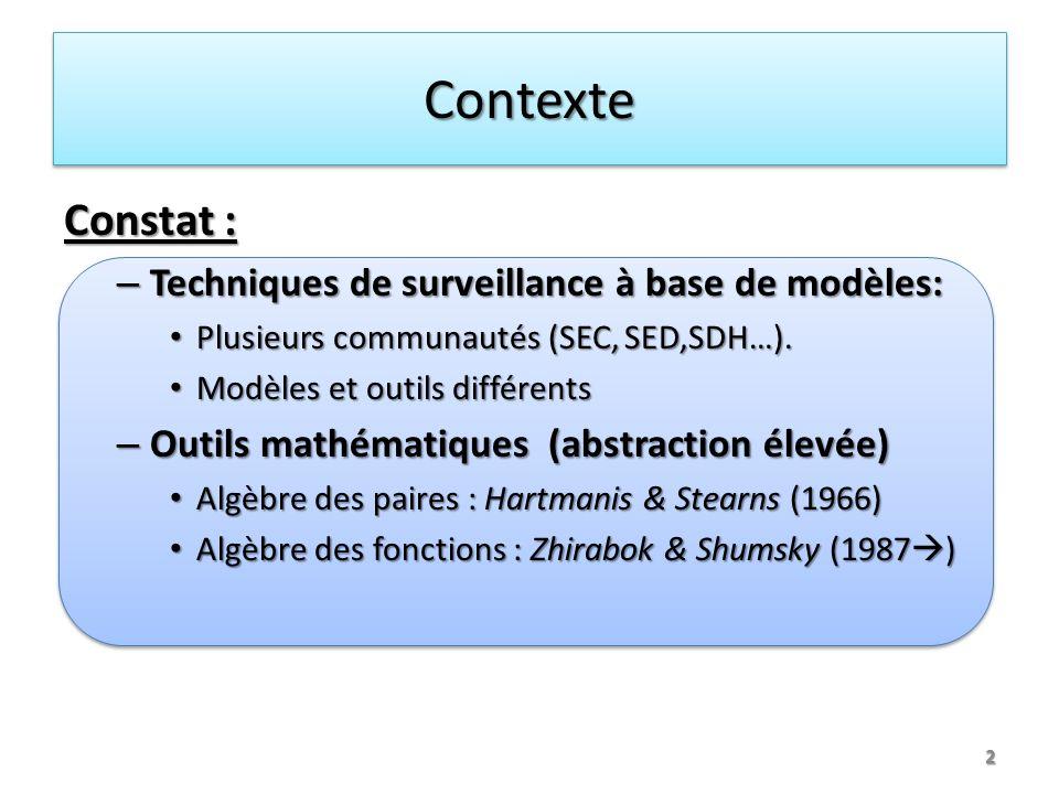 Décomposition avec critère de découplage 13 Décomposition connue en SEC et en SED Décomposition connue en SEC et en SED – Formalisée avec des outils spécifiques au modèle considéré Généraliser la décomposition quel que soit le modèle comportemental .