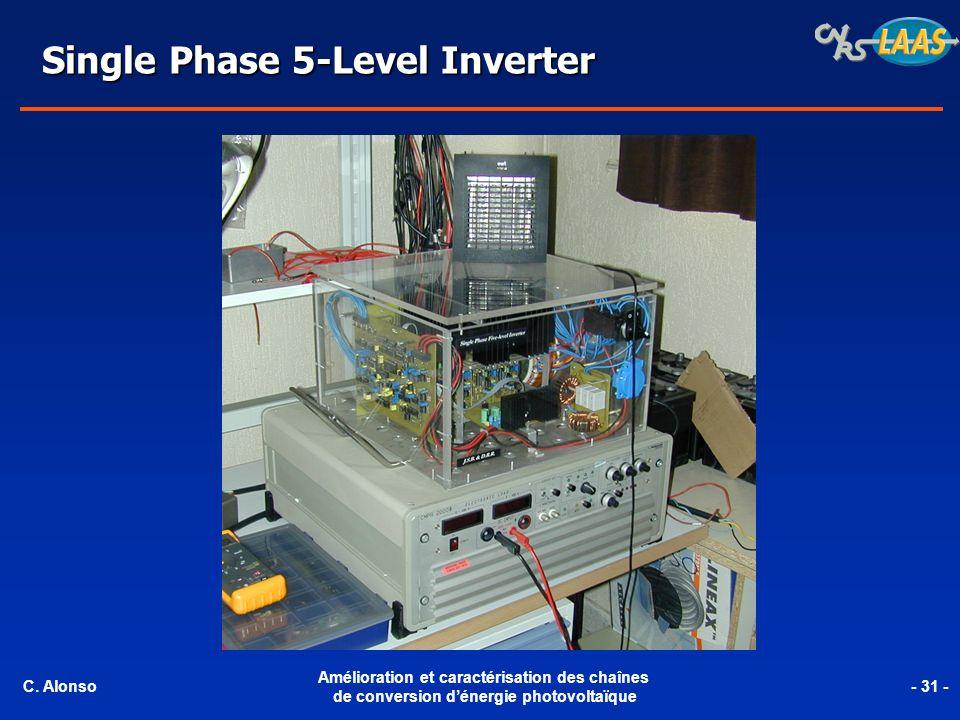 Single Phase 5-Level Inverter C. Alonso Amélioration et caractérisation des chaînes de conversion dénergie photovoltaïque - 31 -