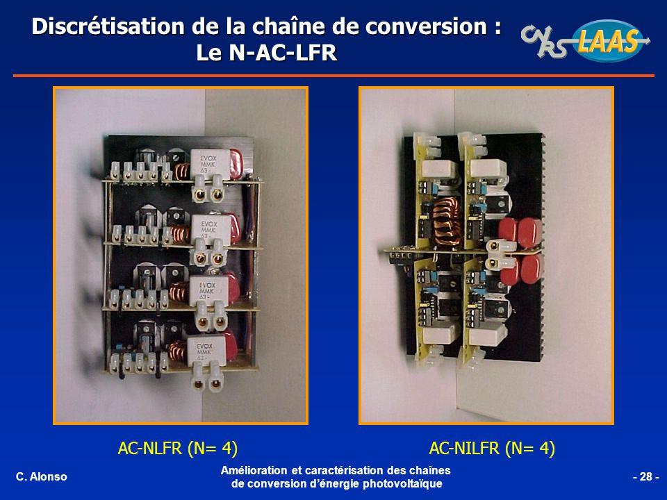 AC-NLFR (N= 4)AC-NILFR (N= 4) Discrétisation de la chaîne de conversion : Le N-AC-LFR C. Alonso Amélioration et caractérisation des chaînes de convers