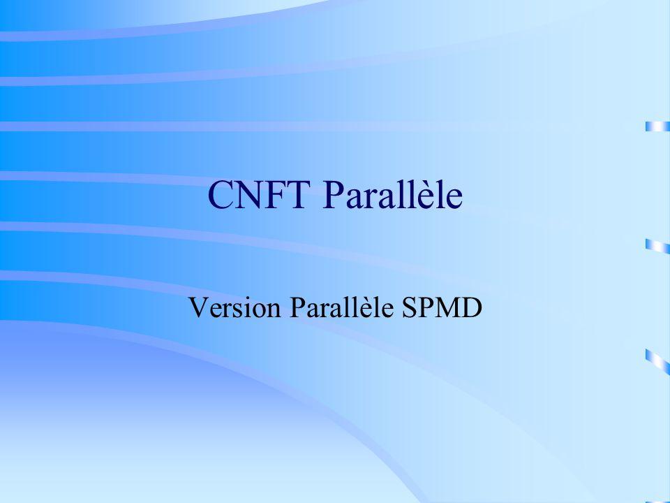 CNFT Parallèle Version Parallèle SPMD