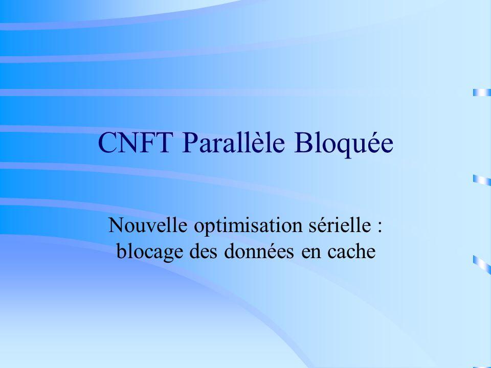 CNFT Parallèle Bloquée Nouvelle optimisation sérielle : blocage des données en cache