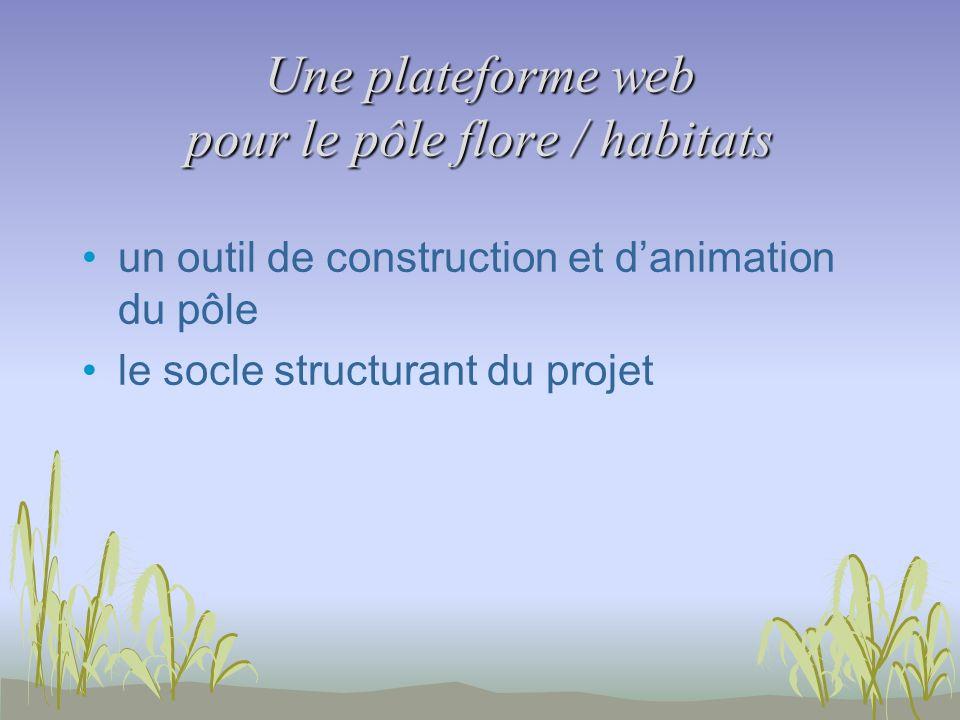 Une plateforme web pour le pôle flore / habitats un outil de construction et danimation du pôle le socle structurant du projet