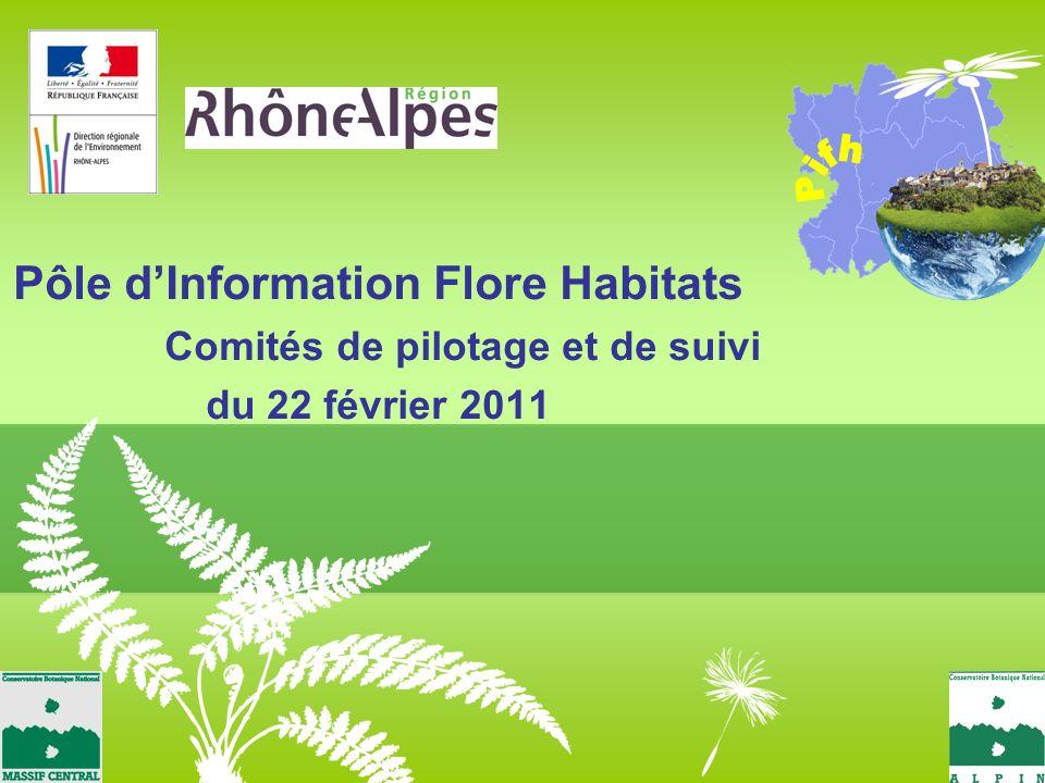 Pôle dInformation Flore Habitats Comités de pilotage et de suivi du 22 février 2011