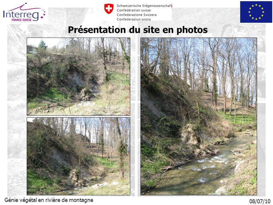 08/07/10 Génie végétal en rivière de montagne Présentation du site en photos