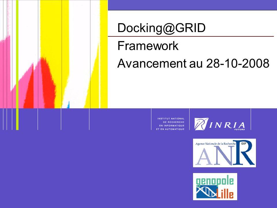 Plan Principales avancées pour les parties Ligand, Sites Actifs et Docking Processus dinstallation de la version 0.1 Quelques mots sur la Collaboration INRIA ADAMS/DOLPHIN