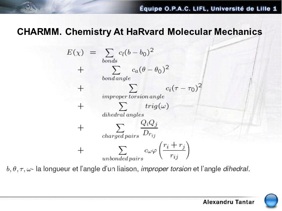 CHARMM. Chemistry At HaRvard Molecular Mechanics