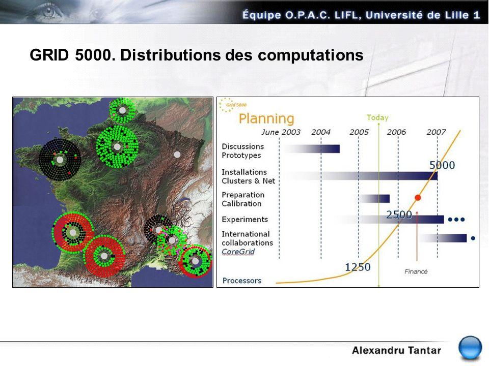 GRID 5000. Distributions des computations