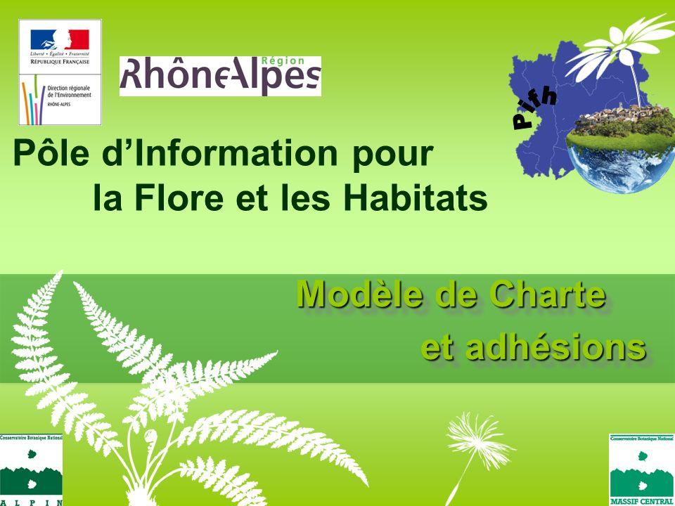 Modèle de Charte et adhésions Pôle dInformation pour la Flore et les Habitats