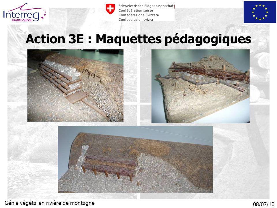 08/07/10 Génie végétal en rivière de montagne Action 3E : Maquettes pédagogiques