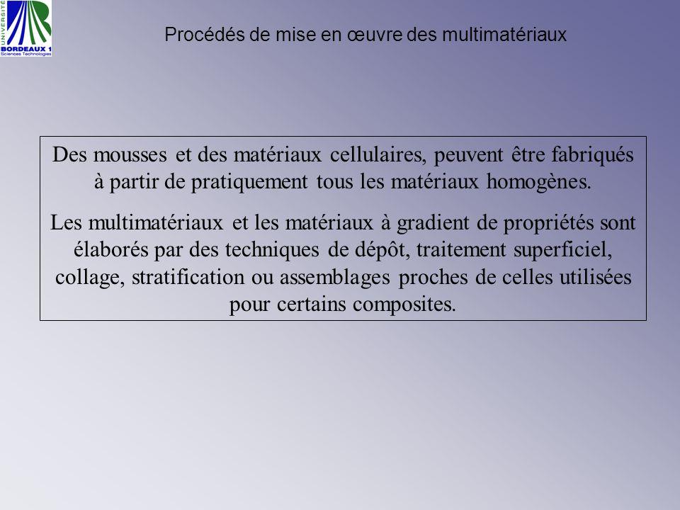 Procédés de mise en œuvre des multimatériaux Des mousses et des matériaux cellulaires, peuvent être fabriqués à partir de pratiquement tous les matéri