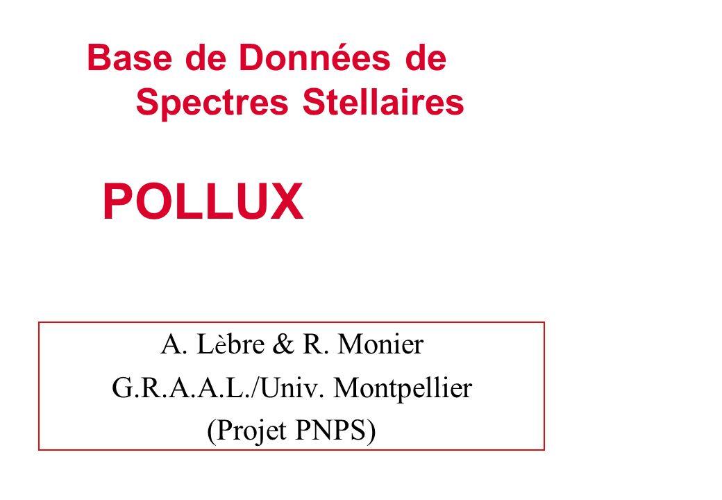 Spectrophotométrie Projet ASTRA (Fairborn Obs.